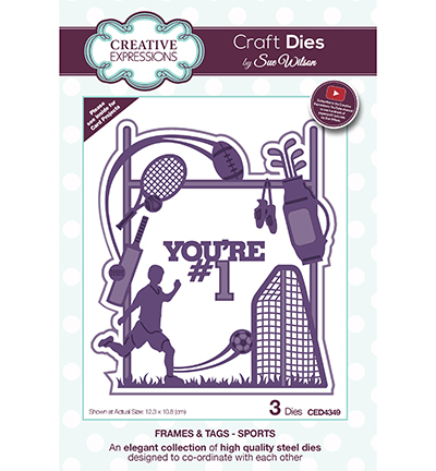 Creative Expressions - Die - Frames & Tags - Sports - CED4349