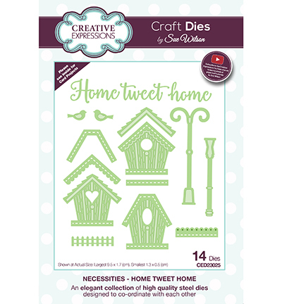 Creative Expressions - Die - The Necessities Collection - Home Tweet Home - CED23025
