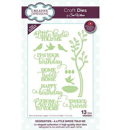 Creative Expressions - Die - The Necessities Collection - A Little Birdie Told Me - CED23024