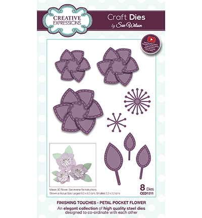 Creative Expressions - Die - The Finishing Touches Collection - Petal Pocket Flower - CED1511