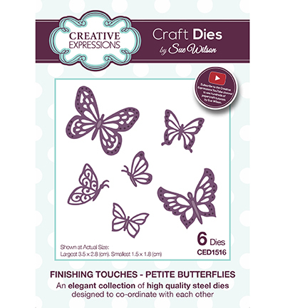 Creative Expressions - Die - The Finishing Touches Collection - Petite Butterflies - CED1516