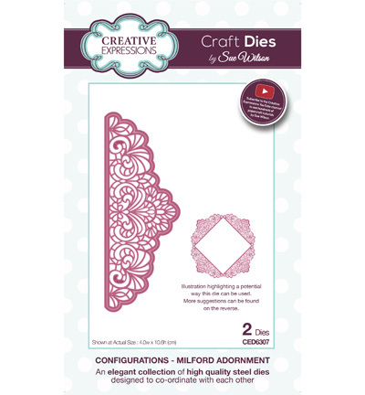 Creative Expressions - Die - The Configurations Collection - Milford Adornment - CED6307