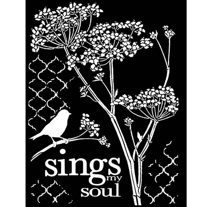 Stamperia - Maskingstencil - Little Bird - KSTD025