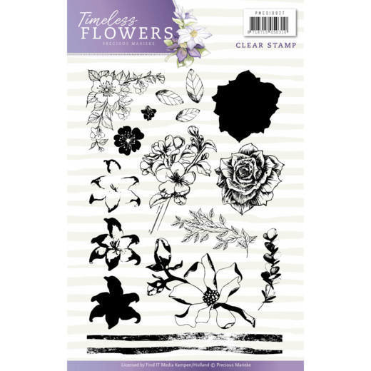 Precious Marieke - Clearstamp - Timeless Flowers - PMCS10027