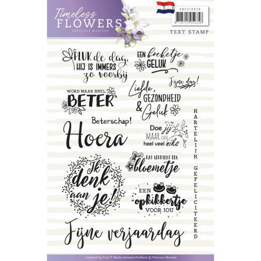 Precious Marieke - Clearstamp - Timeless Flowers - PMCS10028