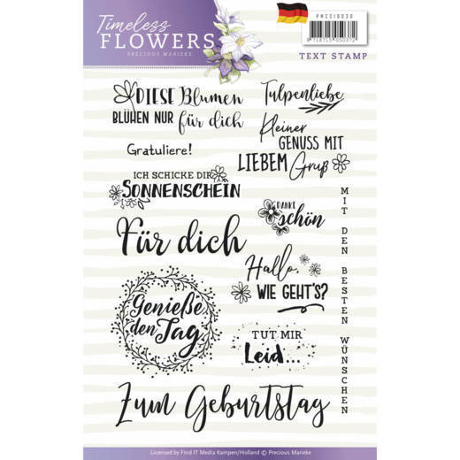 Precious Marieke - Clearstamp - Timeless Flowers - PMCS10030