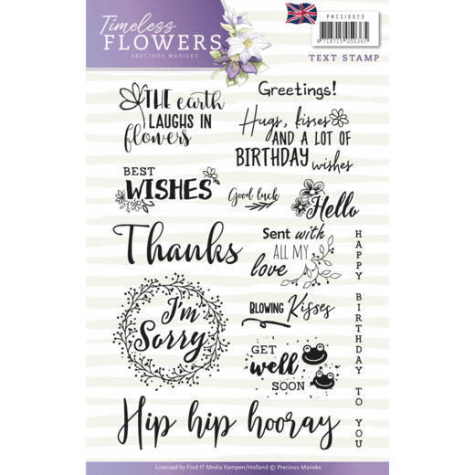 Precious Marieke - Clearstamp - Timeless Flowers - PMCS10029