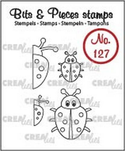 Crealies - Clearstamp - Bits & Pieces - No. 127 - Lieveheersbeestje - CLBP127