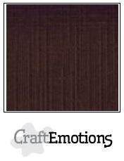 Craftemotions - Linnenkarton - 305 x 305mm: Chocolade - 1260
