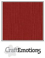 Craftemotions - Linnenkarton - 305 x 305mm: Donkerrood - 1195