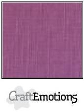 Craftemotions - Linnenkarton - 305 x 305mm: Purper - 1140