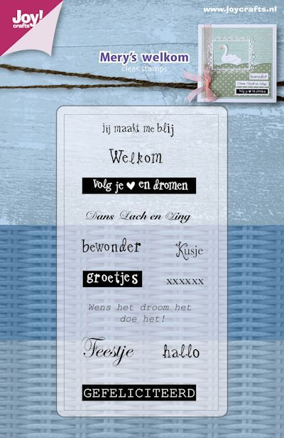 Joy! crafts - Clearstamp - Mery's welkom - 6410/0478