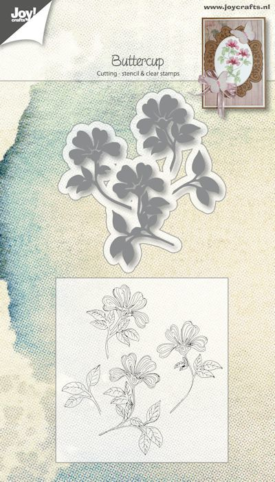 Joy! crafts - Clearstamp met mal - Buttercup - 6004/0024