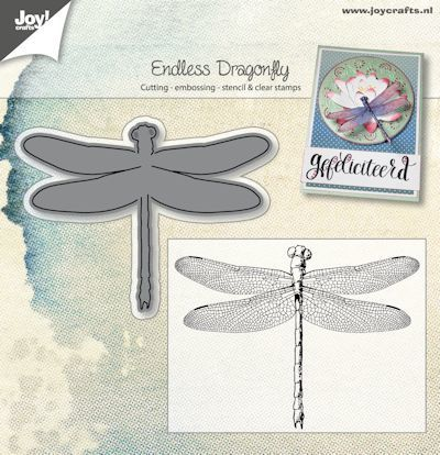 Joy! crafts - Clearstamp met mal - Endless Dragonfly - 6004/0025