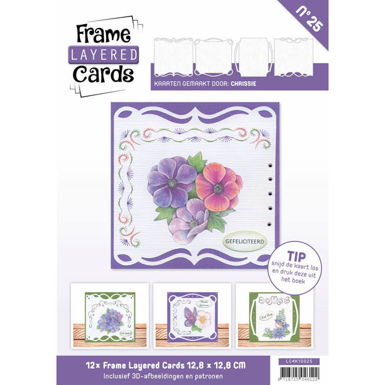 Card Deco - Frame Layered Cards - Book 4K - No. 25 - LC4K10025