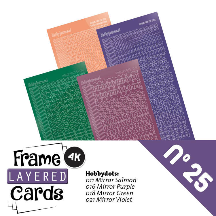 Hobbyjournaal - Stickerset - Frame Layered Cards - No. 25 - LCST025