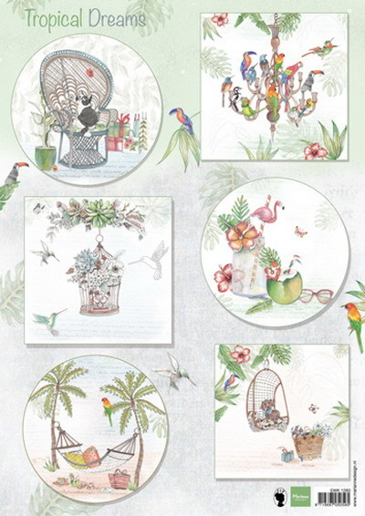 Marianne Design - Els Wezenbeek - 3D-knipvel A4 - Els tropical dreams - EWK1260