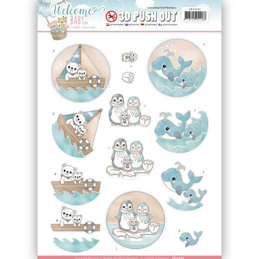 Yvonne Creations - (3D-)Stansvel A4 - Welcome Baby - By The Sea - SB10265