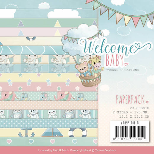 Yvonne Creations - Paperpack -  Welcome Baby - YCPP10018