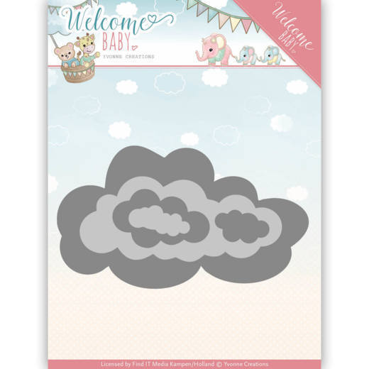 Yvonne Creations - Die - Welcome Baby - Nesting clouds - YCD10137