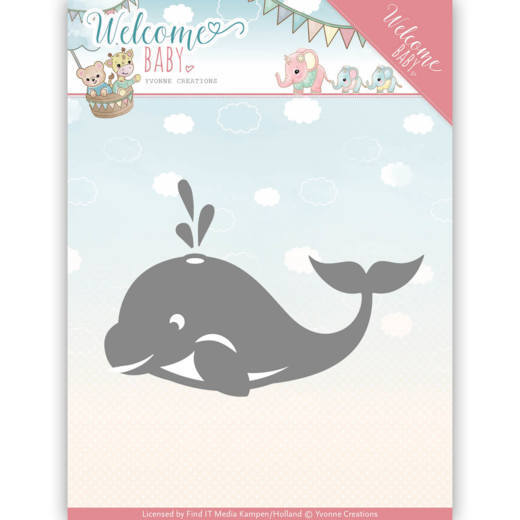 Yvonne Creations - Die - Welcome Baby - Little Orca - YCD10139