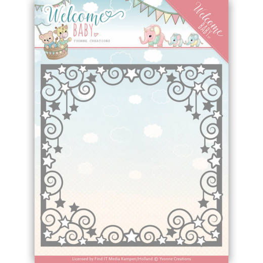 Yvonne Creations - Die - Welcome Baby - Star Frame - YCD10135