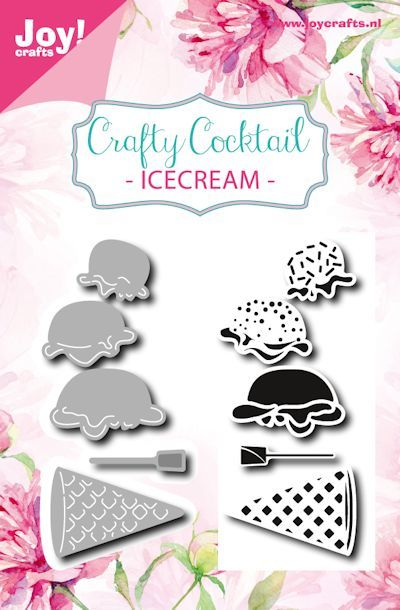Joy! crafts - Noor! Design - Clearstamp met mal - Crafty Cocktail - Icecream - 6004/0027