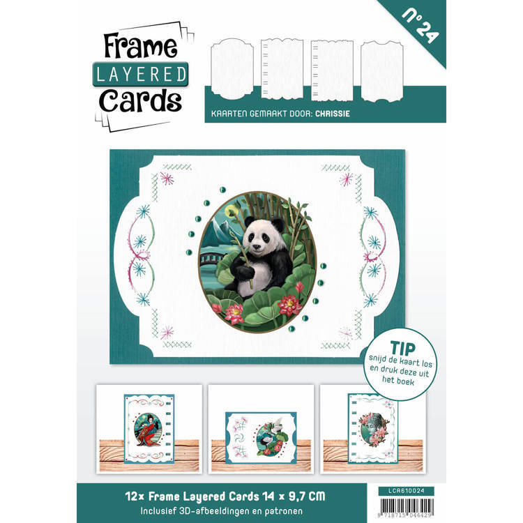 Card Deco - Frame Layered Cards - Book A6 - No. 24 - LCA610024