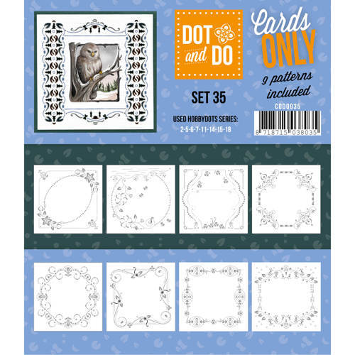 Card Deco - Oplegkaarten - Dot & Do - Cards Only - Set 35 - CODO035