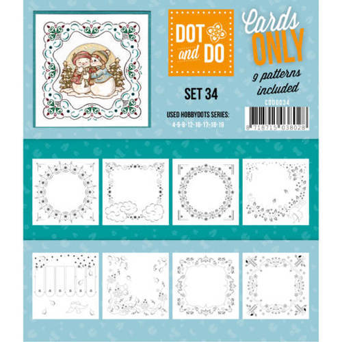 Card Deco - Oplegkaarten - Dot & Do - Cards Only - Set 34 - CODO034