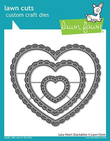Lawn Fawn - Die - Lacy Heart Stackables - LF1562