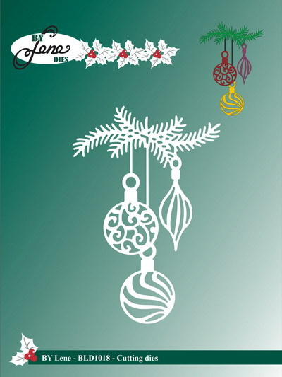 Lene Design - Die - Branch witch christmas bells - BLD1018