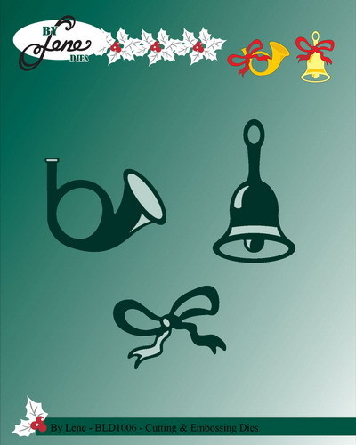 Lene Design - Die - Bell and horn with bow - BLD1006