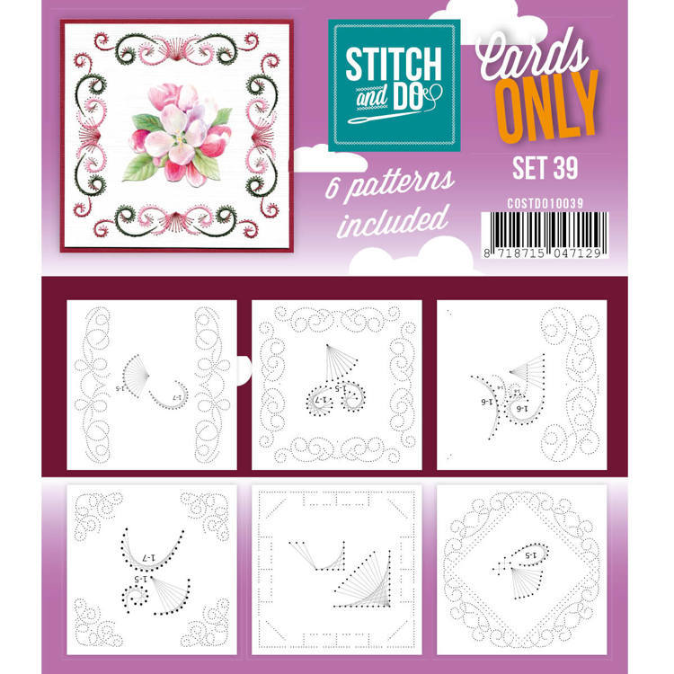 Card Deco - Stitch & Do - Oplegkaarten - Cards only - Set 39 - COSTDO10039