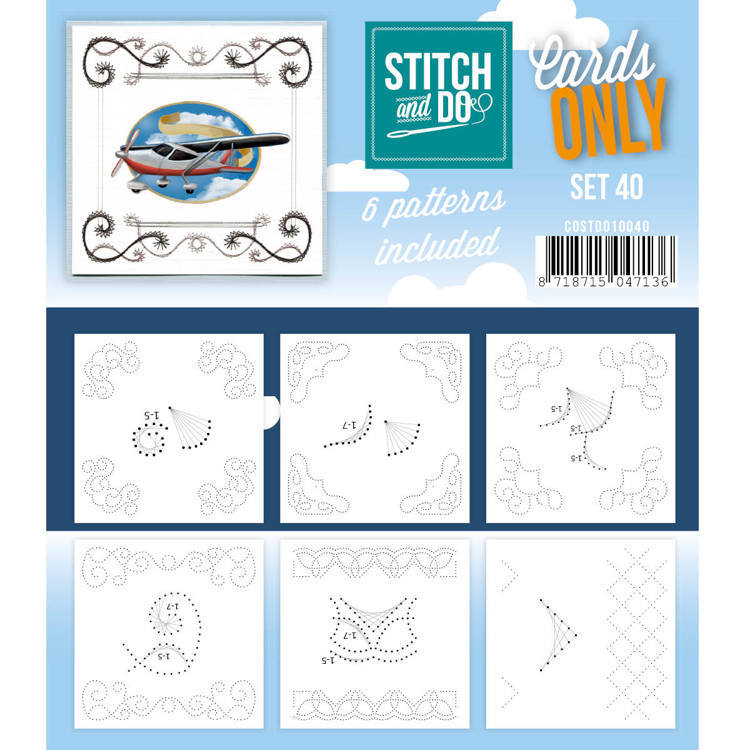 Card Deco - Stitch & Do - Oplegkaarten - Cards only - Set 40 - COSTDO10040