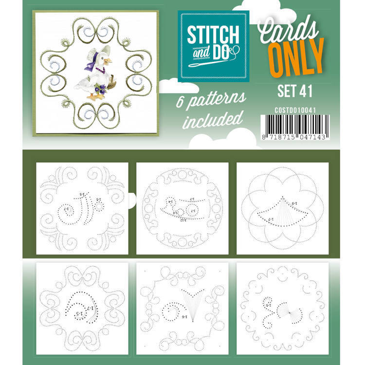 Card Deco - Stitch & Do - Oplegkaarten - Cards only - Set 41 - COSTDO10041