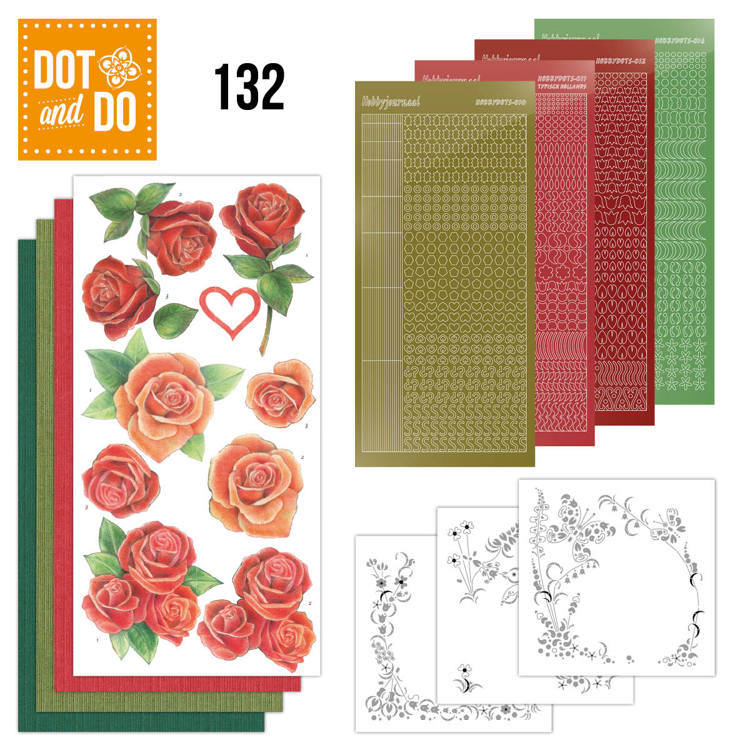 Card Deco - Kaartenpakketten - Dot & Do - No. 132 - Roses - DODO132