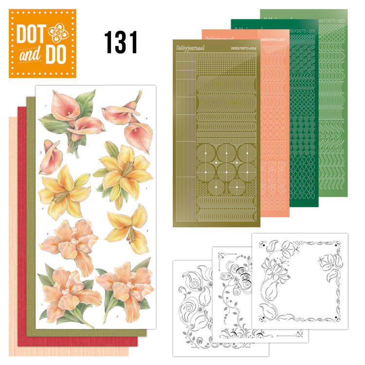 Card Deco - Kaartenpakketten - Dot & Do - No. 131 - Yellow Flowers - DODO131