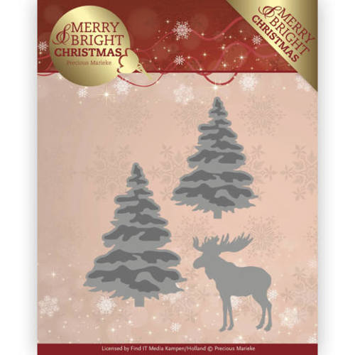 Precious Marieke - Die - Merry and Bright Christmas - Forest - PM10131