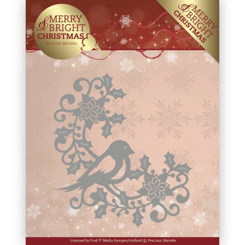 Precious Marieke - Die - Merry and Bright Christmas - Bird Corner - PM10130