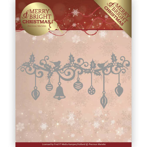 Precious Marieke - Die - Merry and Bright Christmas - Christmas Garland - PM10128