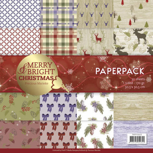 Precious Marieke - Paperpack - Merry and Bright Christmas - PMPP10020