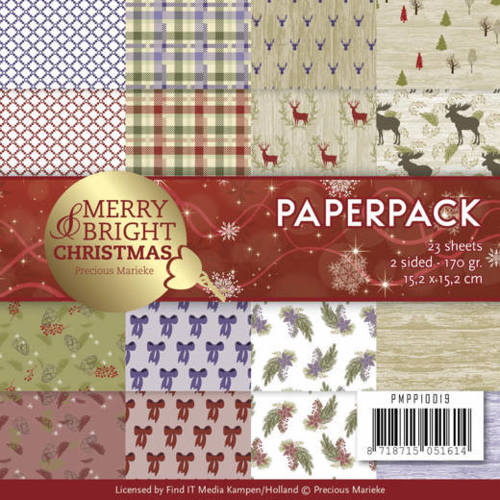 Precious Marieke - Paperpack - Merry and Bright Christmas - PMPP10019