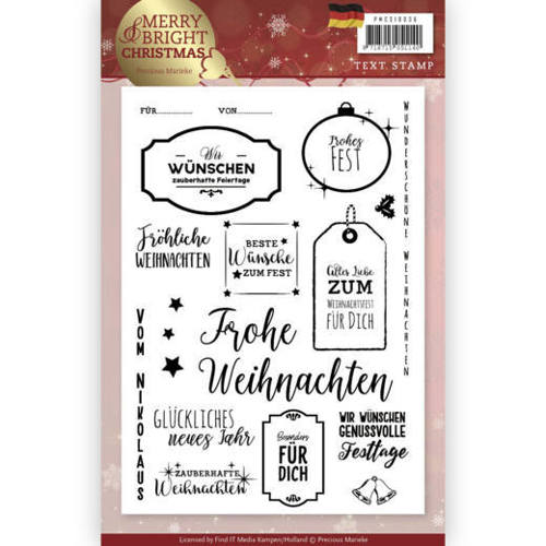 Precious Marieke - Clearstamp - Merry and Bright Christmas (DU) - PMCS10036