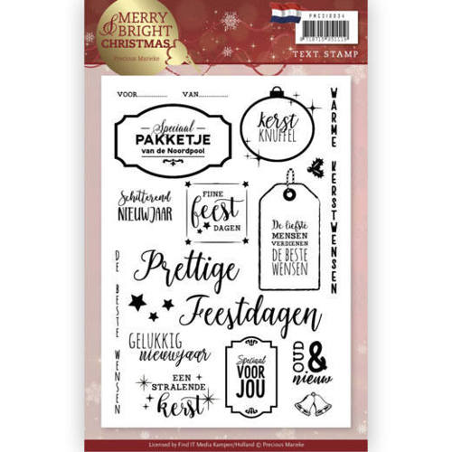 Precious Marieke - Clearstamp - Merry and Bright Christmas (NL) - PMCS10034