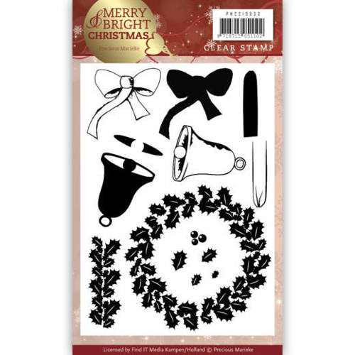 Precious Marieke - Clearstamp - Merry and Bright Christmas - Wreath - PMCS10033