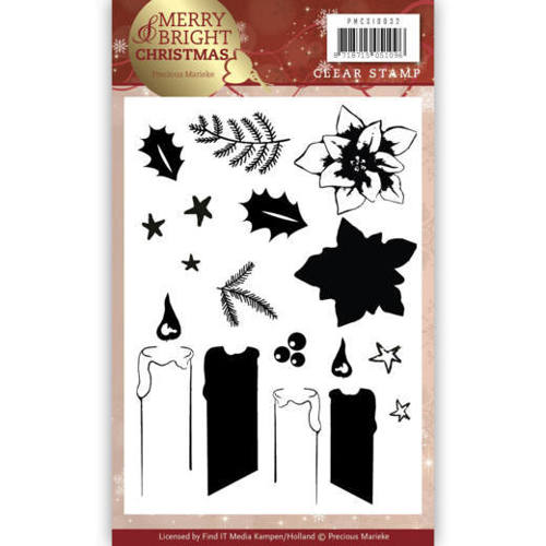 Precious Marieke - Clearstamp - Merry and Bright Christmas - Candle - PMCS10032