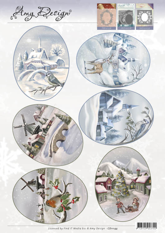 Amy Design - 3D-knipvel A4 - Winter Landscapes - CD11144