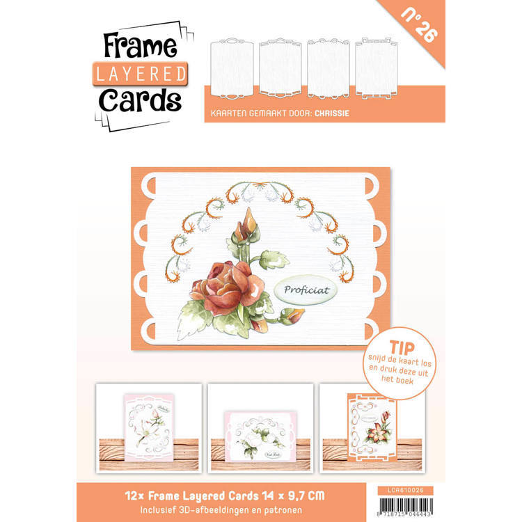 Card Deco - Frame Layered Cards - Book A6 - No. 26 - LCA610026
