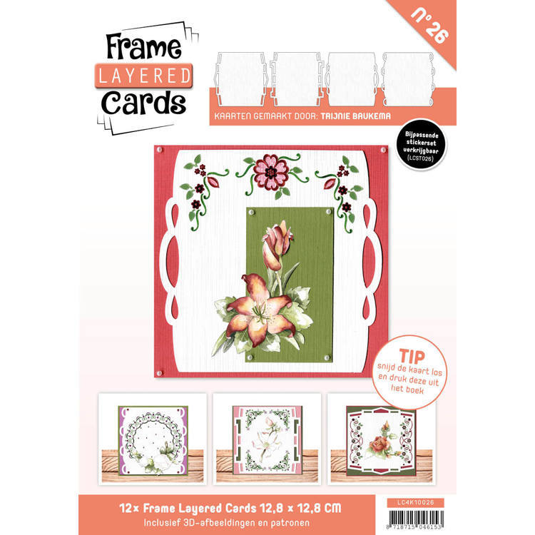 Card Deco - Frame Layered Cards - Book 4K - No. 26 - LC4K10026